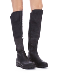 Pixie Market Black Tall Riding Boots