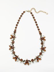 John Lewis Crystal Statement Necklace Bronze