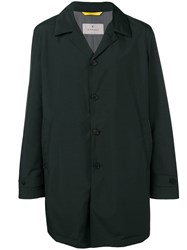 Canali Oversized Single Breasted Coat Green