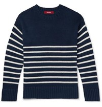 Sies Marjan Kyle Striped Linen Sweater Navy