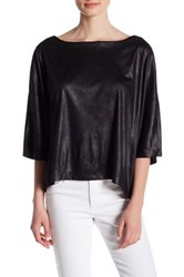 Bb Dakota Albert Elbow Length Sleeve Blouse Black