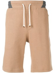 Brunello Cucinelli Drawstring Waist Shorts Neutrals