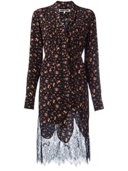 Mcq By Alexander Mcqueen Floral Pintuck Peasant Dress