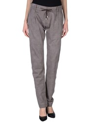 Dandg Trousers Casual Trousers Women Grey
