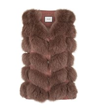 Max And Moi Fox Fur Gilet Pink