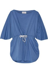 Solid And Striped Poppy Delevingne Cotton Chambray Tunic Blue