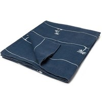 Onia Printed Linen Beach Blanket Navy