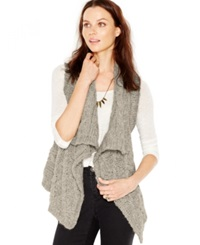Silver Jeans Draped Cable Knit Sweater Vest