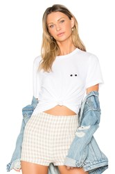 A Fine Line Eyes Brothers Crop Tee White