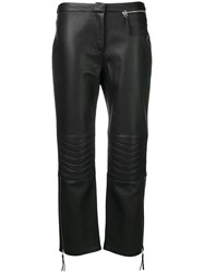 By Malene Birger Virana Leather Trousers Black