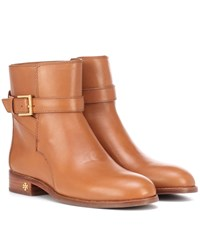 0eb60df05ee6 Tory Burch Brooke Leather Ankle Boots Brown
