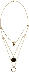 Maison Martin Margiela Gold Three Tiered Convertible Necklace