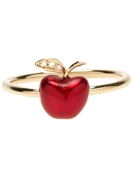 Alison Lou Red Apple Stack Ring