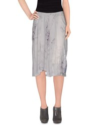 Dries Van Noten Skirts 3 4 Length Skirts Women Grey