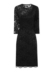 Hotsquash One Sleeved Lace Dress In Clever Fabric Black