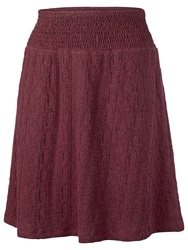 Fat Face Jacquard Cable Jersey Skirt Garnet