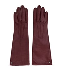 Reiss Starling Womens Dents Long Leather Gloves In Red