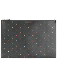 Givenchy Large Iconic Print Pouch Women Cotton Polyester Polyurethane One Size Black