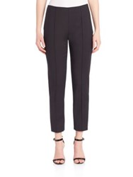 St. John Solid Cropped Pants Caviar Ivory