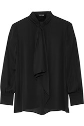 Adam By Adam Lippes Pussy Bow Silk Blouse Black