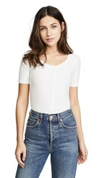 Getting Back To Square One Short Sleeve Henley Bodysuit Vanilla Ice