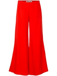 Aalto Cropped Wide Leg Trousers Red