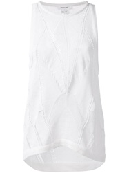 Helmut Lang Open Stitch Knit Top White