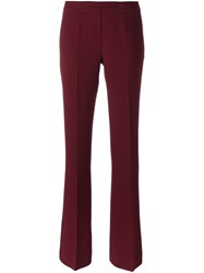 P.A.R.O.S.H. Pleated Bootcut Trousers Red