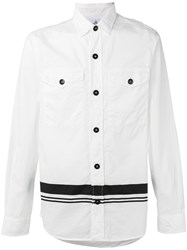 Stone Island Chest Pocket Striped Shirt White