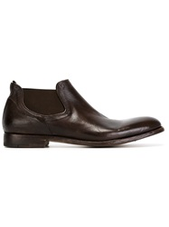 Alberto Fasciani Elasticated Panel Ankle Boots Brown