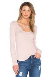 Splendid 1X1 Open Back Tee Blush
