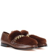 Boyy Loafur Leather And Fur Loafers Brown
