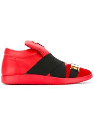 Giuseppe Zanotti Design Wrap Front Trainers Red