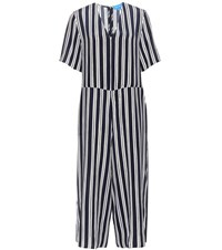 Mih Jeans Hart Striped Silk Jumpsuit Multicoloured