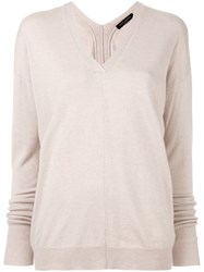 Piazza Sempione V Neck Jumper Nude And Neutrals