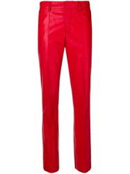 Msgm Slim Fit Trousers Red