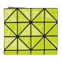 Issey Miyake Bao Bao Yellow And Black Glossy Book Wallet