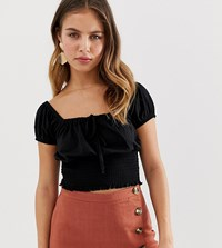 New Look Square Neck Top In Black