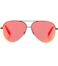 Victoria Beckham Classic Mirrored Sunglasses Orange