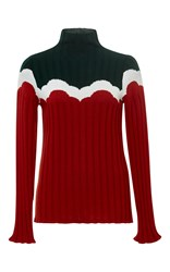 Parden's Red Zevuda Ribbed Sweater