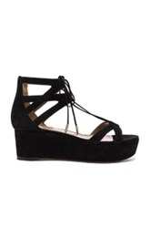 Aquazzura Beverly Hills Flatform In Black