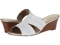 Circa Joan And David Shanna White Leather Women's Wedge Shoes