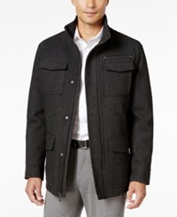 Inc International Concepts Men's York Herringbone Stand Collar Jacket Only At Macy's Charcoal