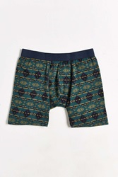 Urban Outfitters Blanket Printed Boxer Brief Blue