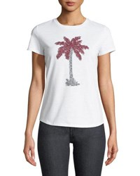 Romeo And Juliet Couture Sequin Palm Tree Tee Gray