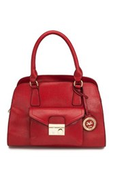 V1969 Italia Marlow Medium Vegan Leather Satchel Red