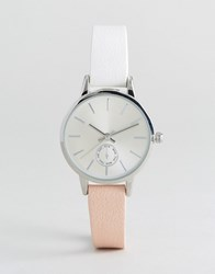 New Look Two Tone Skinny Watch Nude And Pink Multi