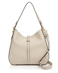 Annabel Ingall Brooke Leather Hobo Pebble Gray Gold