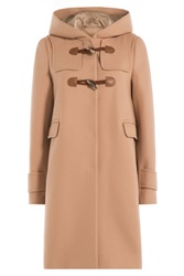 Tara Jarmon Wool Blend Duffle Coat Rose