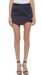 Mason By Michelle Mason Cutout Miniskirt Navy Stripe